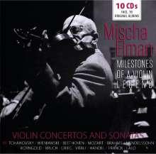 Mischa Elman - Milestones of a Legend, 10 CDs