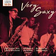 Very Saxy: Milestones of Jazz Saxophone Legends, 10 CDs