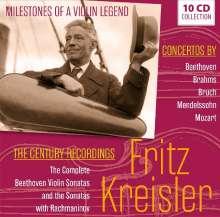 Fritz Kreisler - Milestones of a Violin Legend, 10 CDs