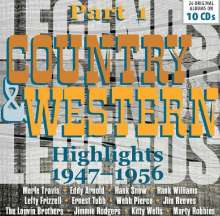 Country & Western Highlights Part 1, 10 CDs