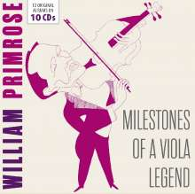 William Primrose - Milestones of a Viola Legend, 10 CDs