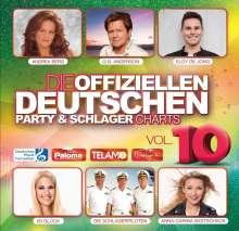 Die offiziellen Deutschen Party & Schlager Charts Vol.10, 2 CDs