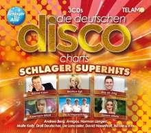 Die deutschen Disco Charts: Schlager Superhits, 3 CDs
