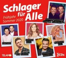 Schlager für Alle: Frühling/Sommer 2020, 3 CDs