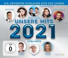 Unsere Hits 2021, 2 CDs und 1 DVD