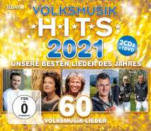 Volksmusik Hits 2021, 2 CDs und 1 DVD