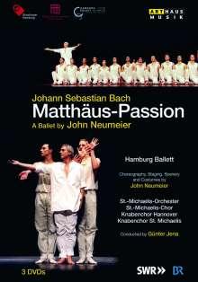 Johann Sebastian Bach (1685-1750): Matthäus-Passion BWV 244 (als Ballett-Version von John Neumeier), 3 DVDs