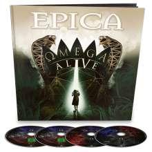Epica: Omega Alive (Ltd.Earbook/2CD/Blu-ray/DVD), 3 CDs und 1 Blu-ray Disc