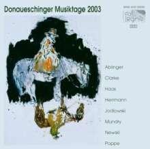 Donaueschinger Musiktage 2003, 2 CDs