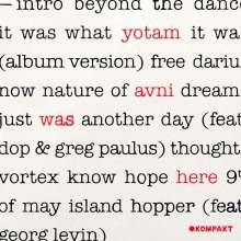 Yotam Avni: Was Here, CD