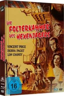 Die Folterkammer des Hexenjägers (Blu-ray & DVD im Mediabook), 1 Blu-ray Disc und 1 DVD