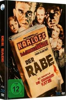 Der Rabe (1935) (Blu-ray & DVD im Mediabook), 1 Blu-ray Disc und 1 DVD