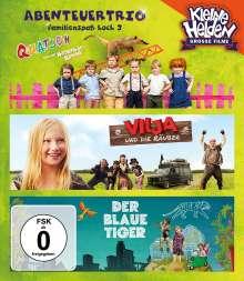 Abenteuertrio: Familienspaß hoch 3 (Der blaue Tiger / Quatsch und die Nasenbärbande / Vilja und die Räuber) (Blu-ray), 3 Blu-ray Discs