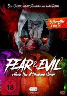 Fear & Evil 2 - a Movie-Box of Blood and Horror (6 Filme auf 3 DVDs), 3 DVDs