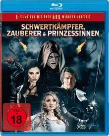 Schwertkämpfer, Zauberer & Prinzessinnen (6 Filme auf 3 Blu-rays), 3 Blu-ray Discs
