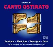 Simeon ten Holt (1923-2012): Canto Ostinato (Live aus dem Steingraeber Haus Bayreuth), 2 CDs