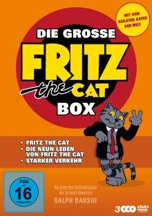 Die große Fritz the Cat Box, 3 DVDs