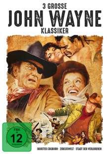 3 grosse John-Wayne-Klassiker, 3 DVDs
