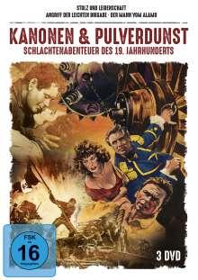 Kanonen & Pulverdunst - Schlachtenabenteuer des 19. Jahrhunderts (3 Filme), 3 DVDs