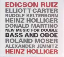 Heinz Holliger & Edicson Ruiz - New Music for Double Bass and Oboe, CD