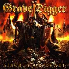 Grave Digger: Liberty Or Death (Limited Edition) (Red/Black Splatter Vinyl), LP