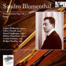 Sandro Blumenthal (1874-1919): Klavierquintette opp.2 & 4, CD