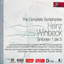 Heinz Winbeck (1946-2019): Symphonien Nr.1-5, 5 CDs