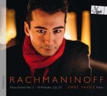 Sergej Rachmaninoff (1873-1943): Klaviersonate Nr.2 op.36, CD
