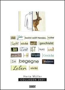 Herta Müller: Herta Müller: Collagen 2021 - Poster-Kalender - Format 49,5 x 68,5 cm, Diverse