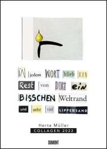 Herta Müller: Herta Müller: Collagen 2022 - Poster-Kalender - Format 49,5 x 68,5 cm, Kalender