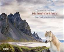 Die Insel der Pferde: Island und seine Isländer 2022 - Pferde-Kalender im Querformat, Kalender