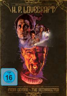 H. P. Lovecraft Movie Double Feature: From Beyond / The Resurrected (Blu-ray im Mediabook), 2 Blu-ray Discs