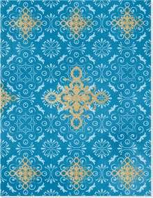 Der Zauber Indiens Großes Notizheft (A5) Motiv Blaues Ornament, Diverse