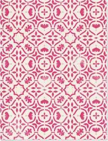 Der Zauber Indiens Großes Notizheft (A5) Motiv Rosa Kaleidoskop, Diverse