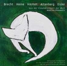 Martha Primavesi: Von der Freundlichkeit der Welt, CD