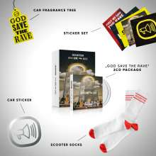 Scooter: God Save The Rave (Limited Deluxe Box), 2 CDs und 1 Merchandise