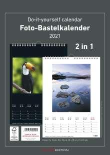 Foto-Bastelkalender 2021 s/w datiert, Kalender