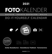 Foto-Bastelkalender 2021 schwarz datiert, Kalender