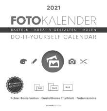 Foto-Bastelkalender 2021 weiß datiert, Kalender