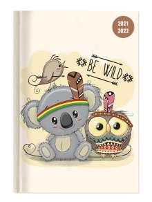Collegetimer Be Wild! 2021/2022 - Schüler-Kalender A5 (15x21 cm) - Day By Day -  352 Seiten - Terminplaner - Notizbuch - Alpha Edition, Buch