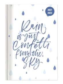 Collegetimer Confetti 2021/2022 - Schüler-Kalender A5 (15x21 cm) - Spruch - Weekly - 224 Seiten - Terminplaner - Alpha Edition, Buch