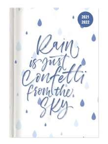 Collegetimer Confetti 2021/2022 - Schüler-Kalender A6 (10x15 cm) - Spruch - Day By Day - 352 Seiten - Terminplaner - Notizbuch - Alpha Edition, Buch