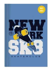 Collegetimer Skate 2021/2022 - Schüler-Kalender A6 (10x15 cm) - Skateboard - Weekly - 224 Seiten - Terminplaner - Alpha Edition, Buch