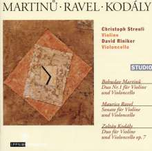 Bohuslav Martinu (1890-1959): Duo Nr.1 für Violine & Cello, CD