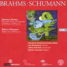Johannes Brahms (1833-1897): Konzert für Violine, Cello & Orchester h-moll op.102, CD