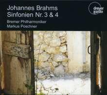 Johannes Brahms (1833-1897): Symphonien Nr.3 & 4, 2 CDs
