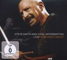 Steve Smith (geb. 1954): Live! One Great Night (CD + DVD), 1 CD und 1 DVD