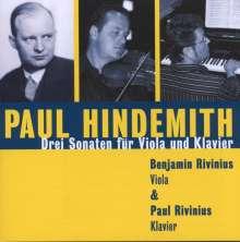 Paul Hindemith (1895-1963): Sonaten für Viola & Klavier, CD