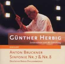 Anton Bruckner (1824-1896): Symphonien Nr.7 & 8, 2 CDs