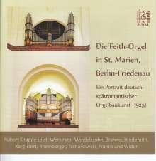 Robert Knappe spielt die Feith-Orgel St. Marien in Berlin-Friedenau, CD